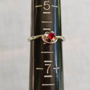 Jewelry - Silverplated ruby cubic zirconia ring 6